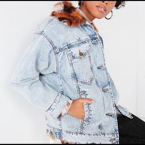 ⚡️ FLASH SALE Urban Outfitters Fur Jean Jacket